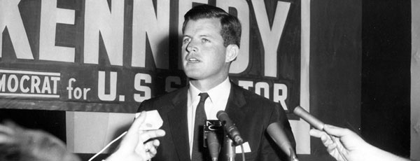 Edward M. Kennedy (Ted Kennedy) announces himself as a candidate for one of the Massachusetts seats in the United States Senate