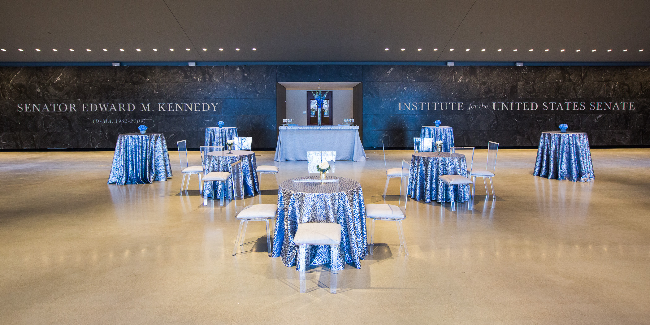 Lobby tables arranged