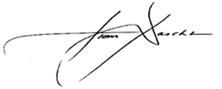 Tom Daschle Signature