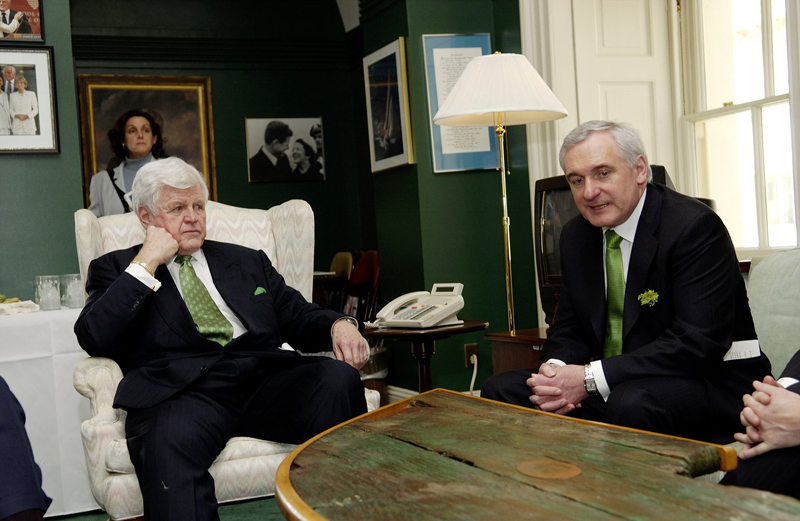 Sen. Kennedy works for peace in Northern Ireland.