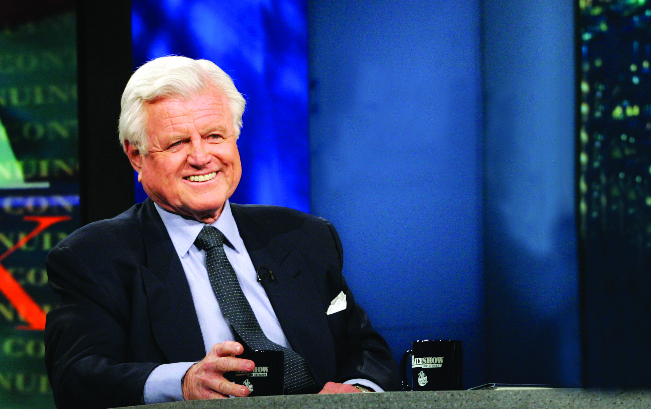 Senator Ted Kennedy Daily Show _ AP Image  Rights for certain events only.