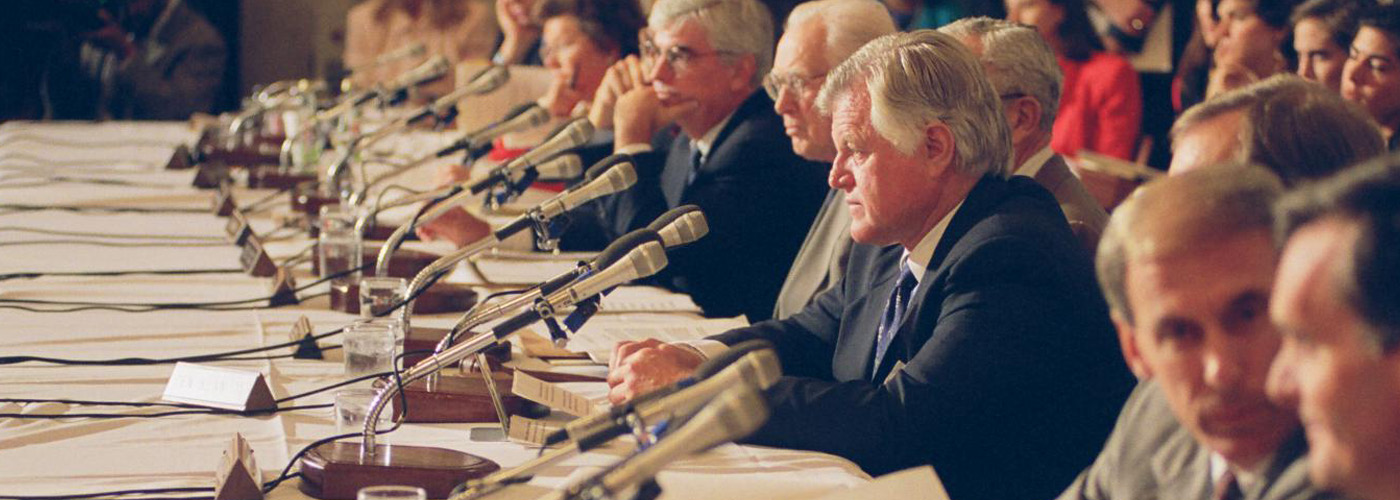 Senator Edward M. Kennedy (Ted Kennedy) at a hearing