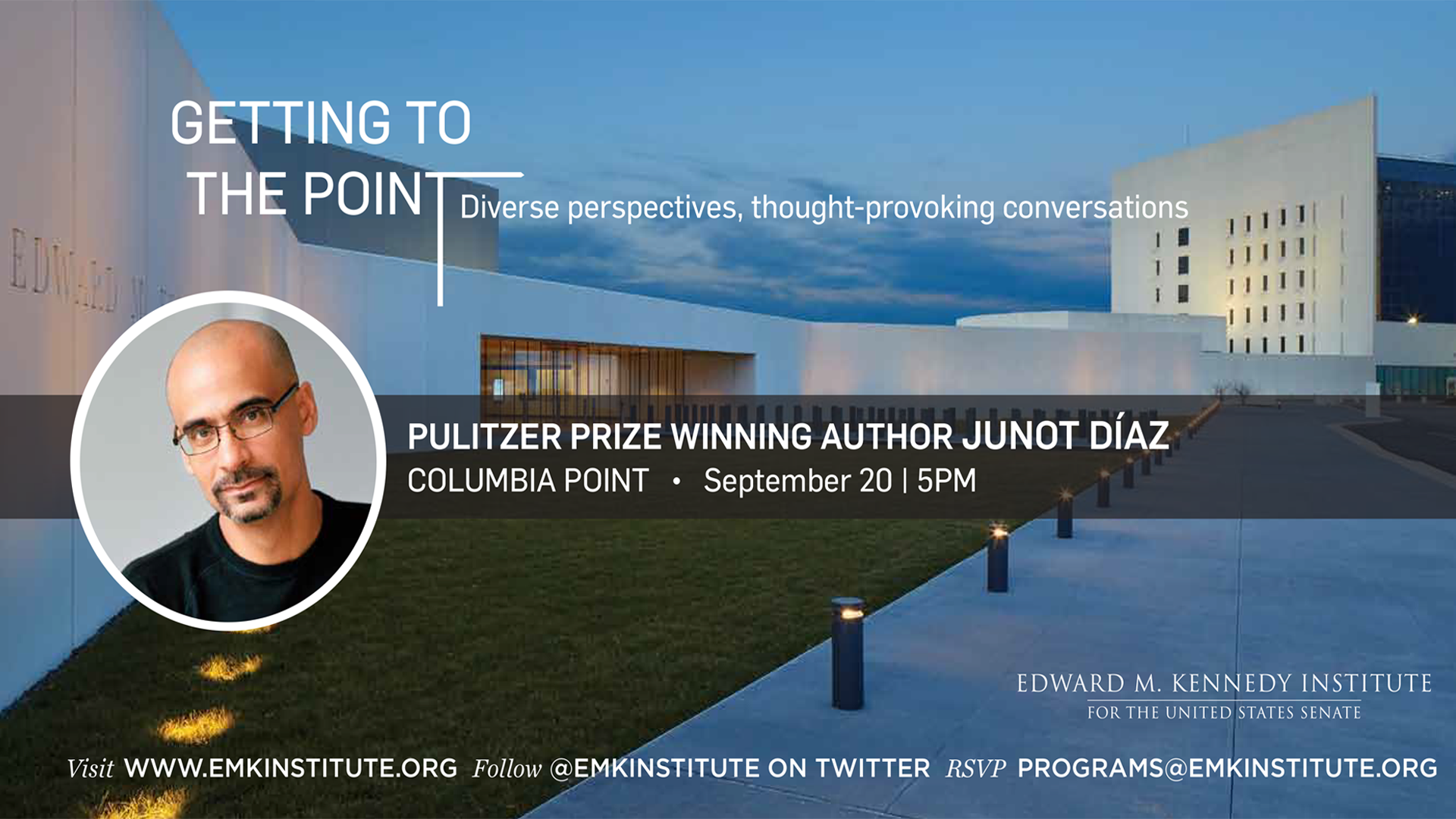Getting to the Point with Junot Díaz