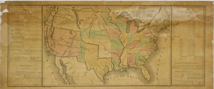 Historic map helps students visualise issues at stake during the museum's Senate Immersion Module on the Compromise of 1850