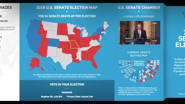 Senate Election Wall Landing Page