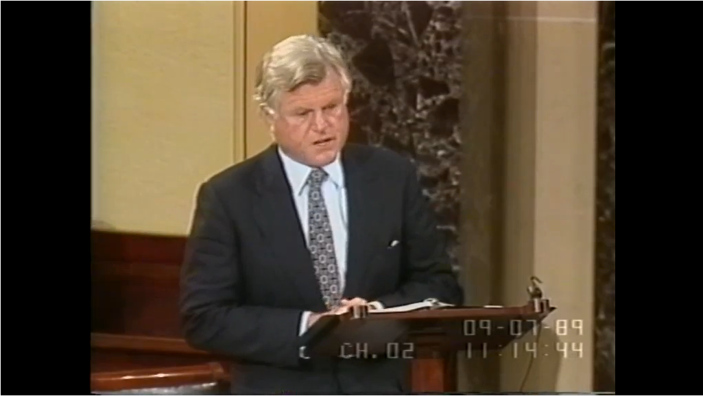 Ted Kennedy ADA Speech. EMK on Senate floor praising the Americans with Disabilities Act