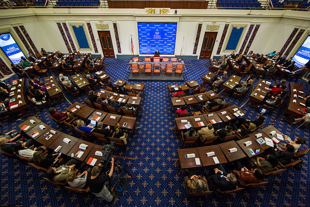 Photo of the Senate Chamber during the Women's Conference event.