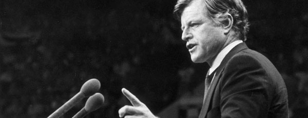 Senator Ted Kennedy speaks about healthcare at the Democratic National Convention