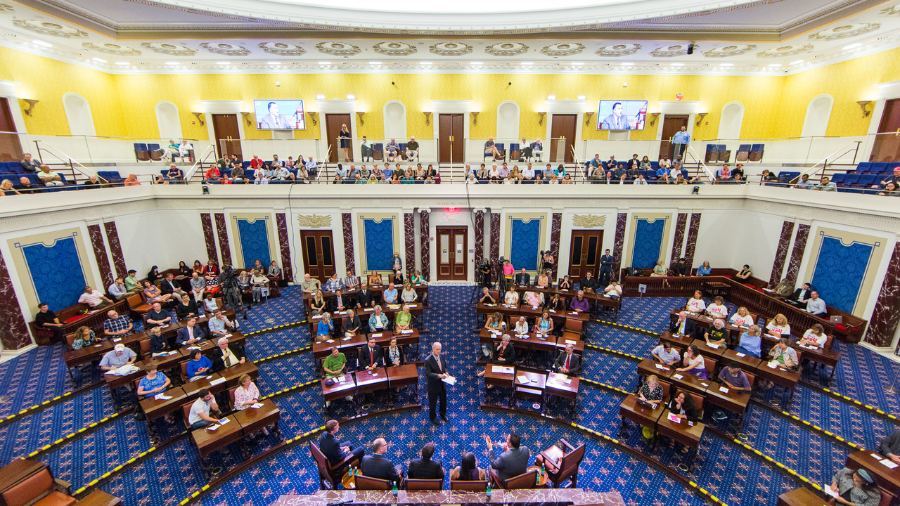 aerial view of Senate Chamber