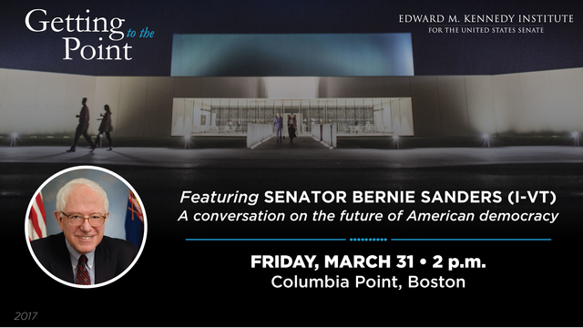 Getting to the Point with Senator Sanders digital flier