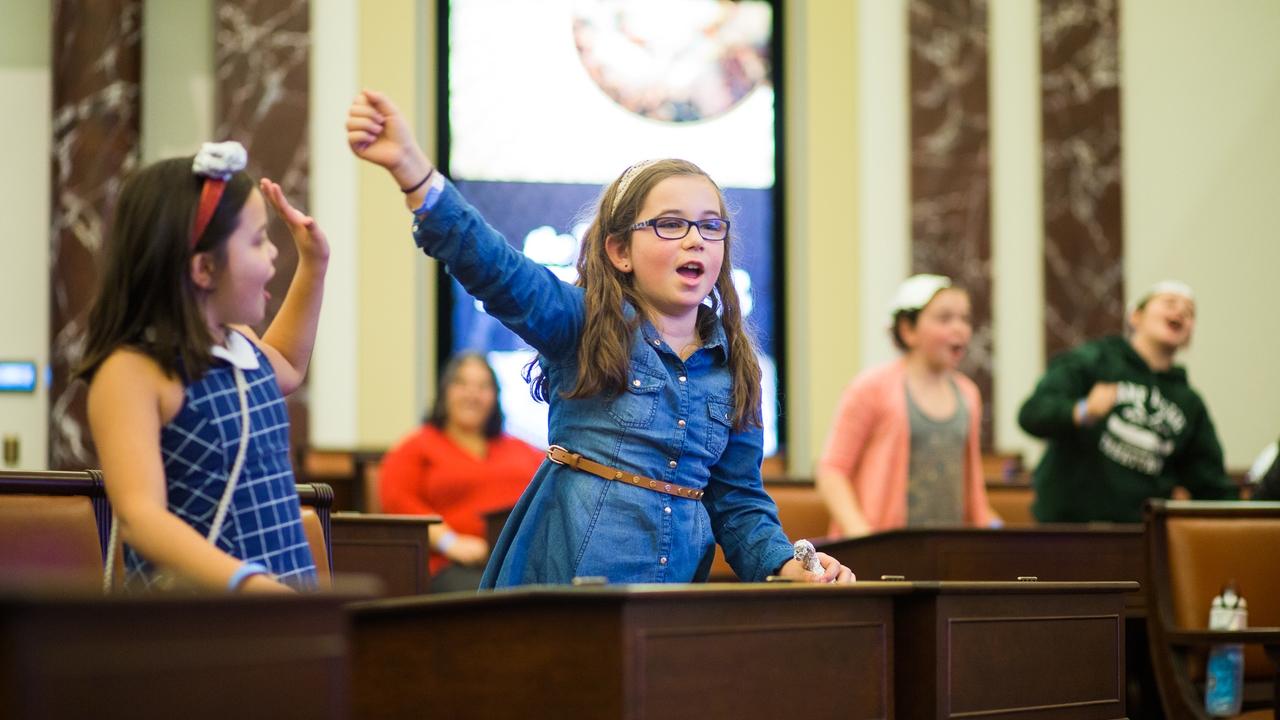 Kids in Chamber during Kid Convention