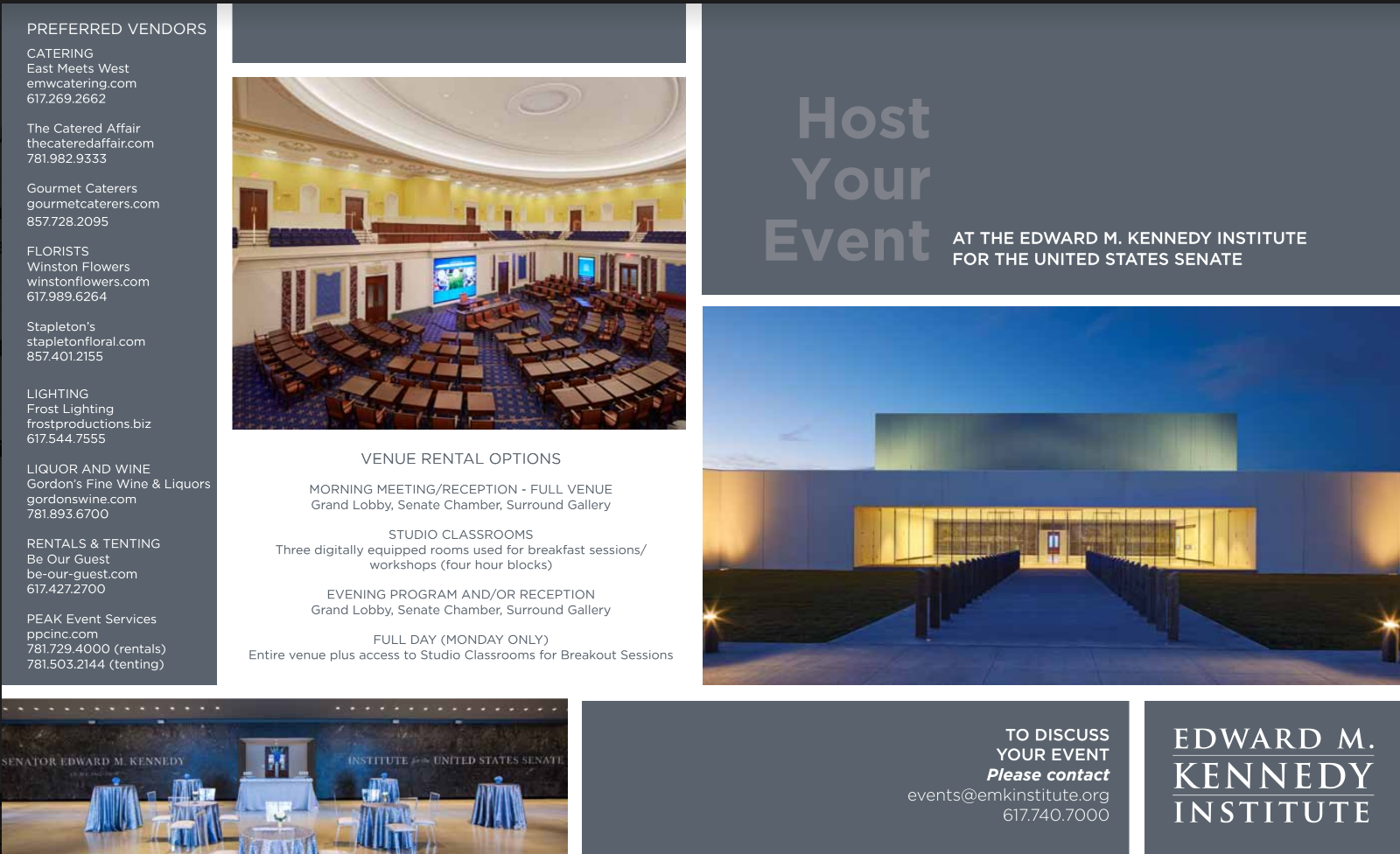 Events Brochure