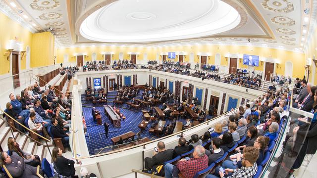 Corner Senate Chamber Bernie Sanders