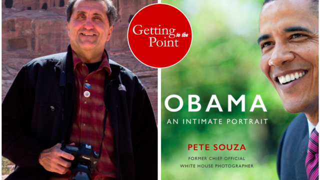 Souza with book jacket