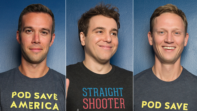 web banner for Pod Save America