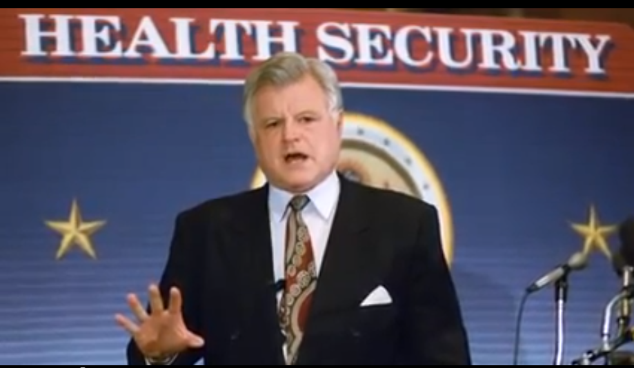 Still image of Senator Kennedy from a video about his contributions to life sciences and medical research.