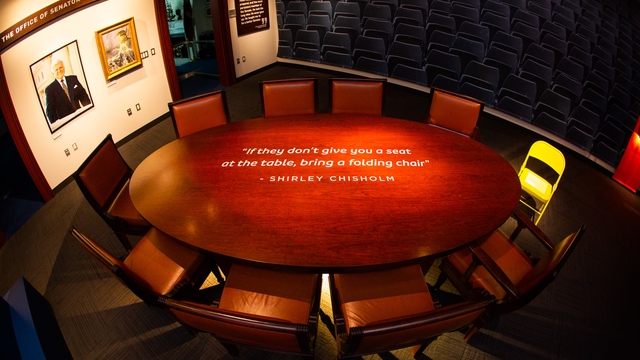 A seat at the table exhibit